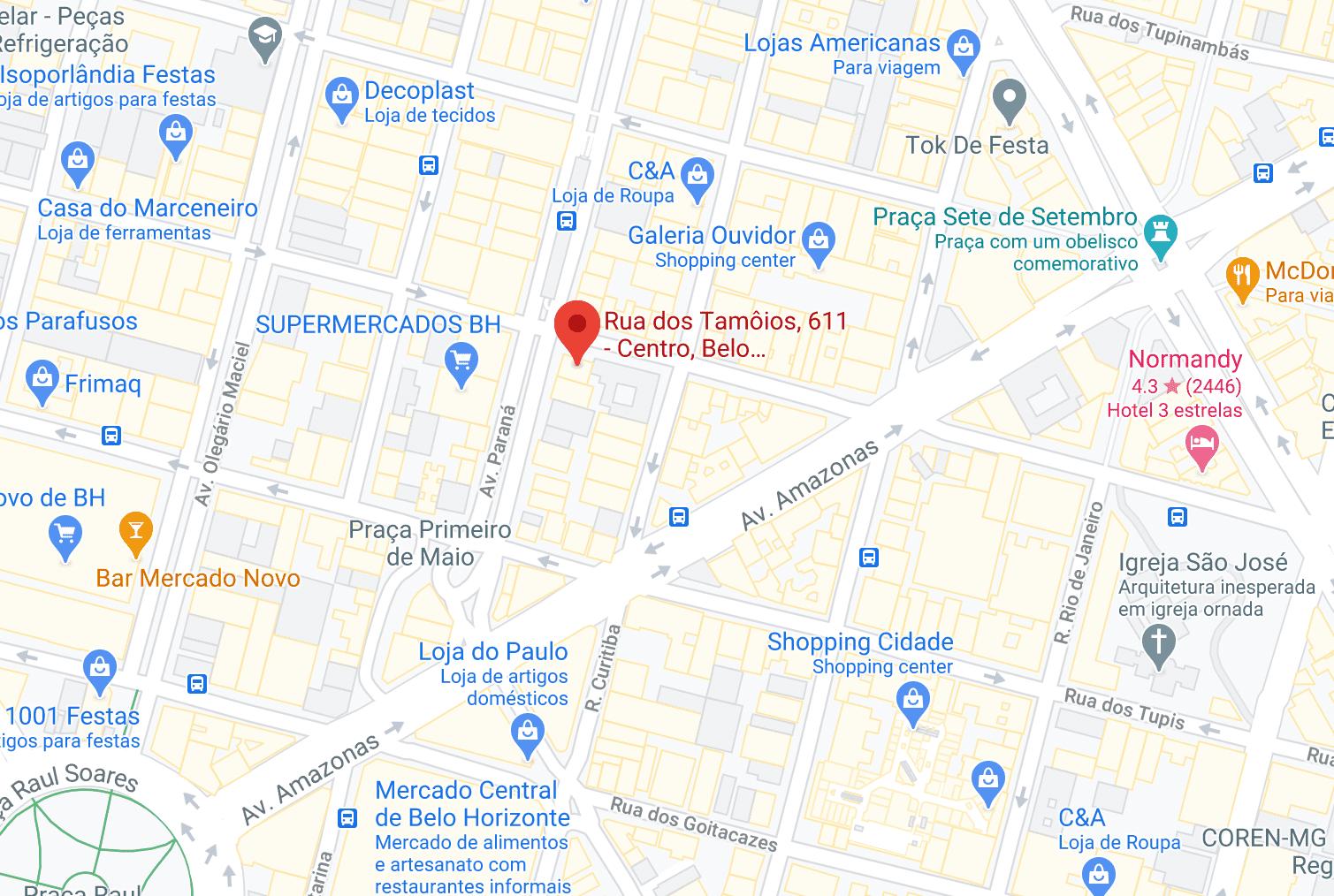 Localização SINDSEMP MG
